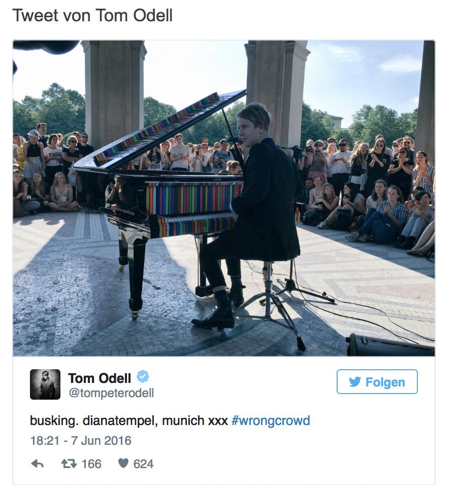 Tweet von Tom Odell
